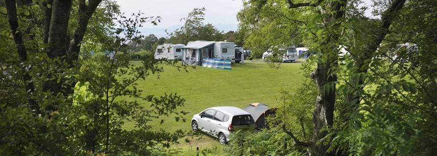 Scenic Views From the Grass Pitches at Culzean Castle Camp Site, Ayrshire