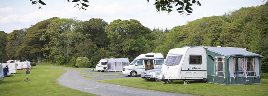 Grass and Hard Standing Pitches  at Culzean Castle Camp Site, Ayrshire