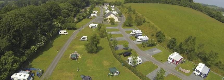 Aerial view of Delamont Country Park