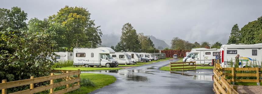 Rainy day at Derwentwater campsite