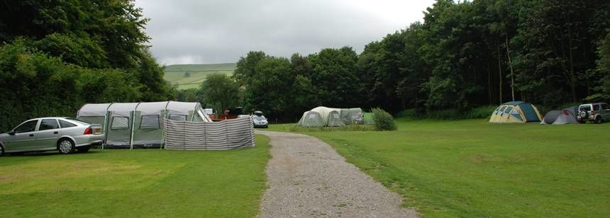 Pitches Overlooking the Surrounding Countryside of Hayfield Camp Site, Derbyshire