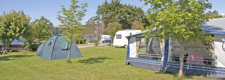 Grass Pitches on  the Banks of Loch Ewe