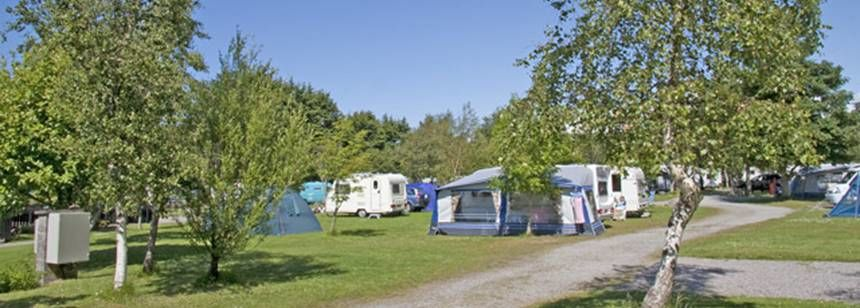 Picturesque Grass Pitches  at the Inverewe Camp Site, the Highlands