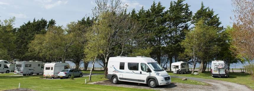 Waterside pitches at Inverewe campsite