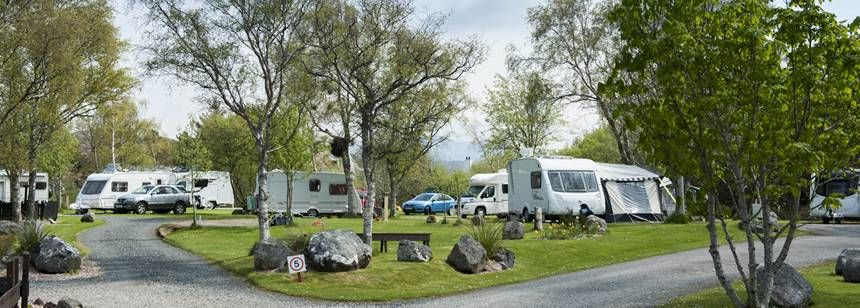 Hardstanding pitches at Inverewe campsite