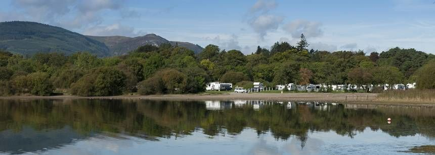 Boating on  the Derwentwater Keswick Camp Site, Cumbria
