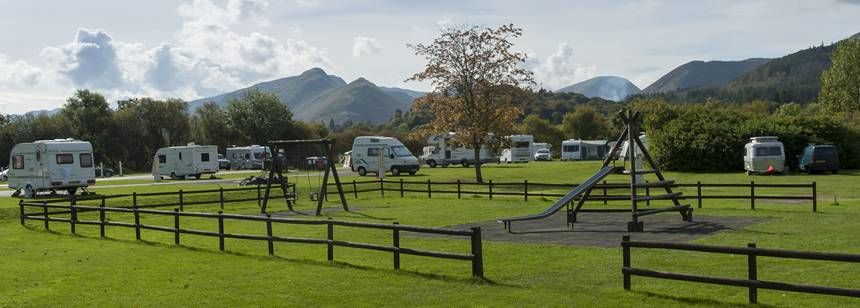 play area at Keswick campsite