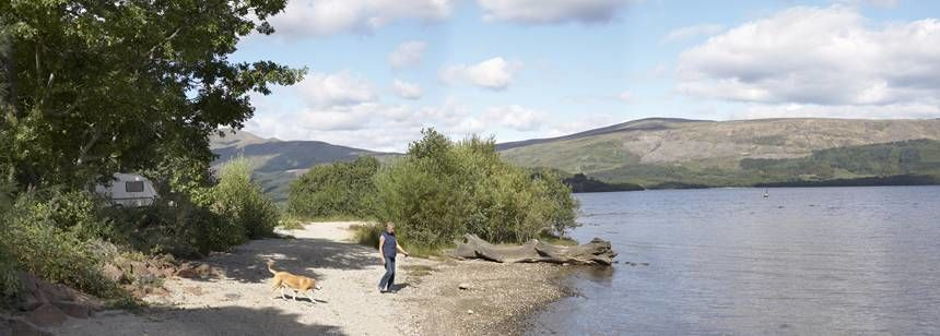 Secluded Pitch of the Luss Campsite Which Overlooks the Bank of Loch Lomond Luss Camp Site, Glasgow