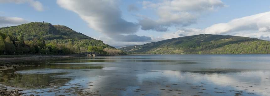 View from Luss campsite