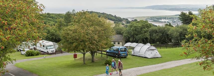 View from Minehead campsite