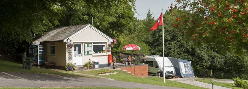 Entrance to Minehead campsite