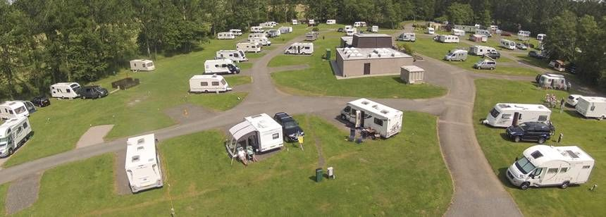 Birdseye view of Scone campsite