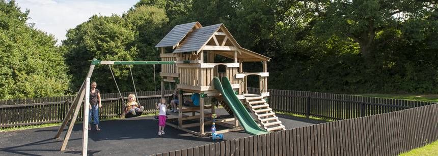 playground at Verwood campsite