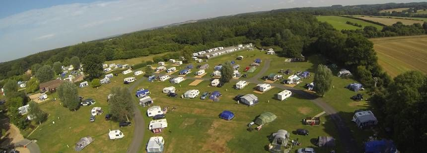 Aerial view of Verwood campsite