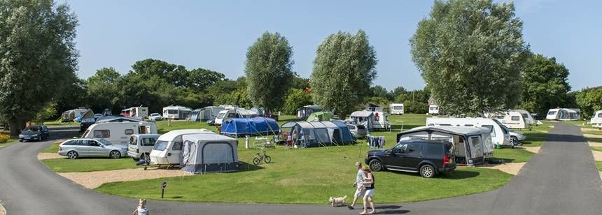 Hardstandig pitches at Verwood campsite