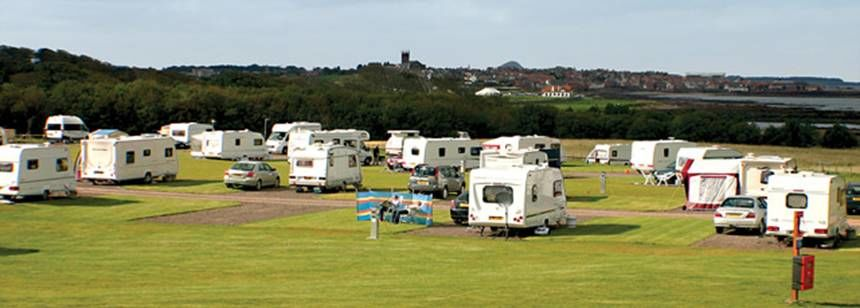Grass Pitches For Your Mobile Home, Caravan and Tent at Dunbar Camp Site, East Lothian