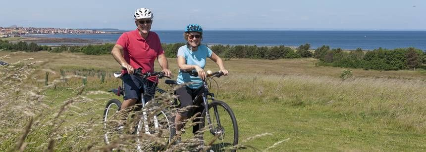 Cycling around Dunbar campsite