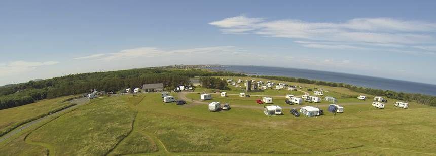 Aerial view of Dunbar campsite