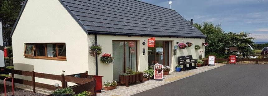 Campsite shop on Dunbar Club Site in East Lothian