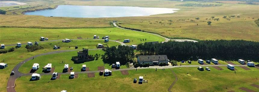 Birds eye view of Dunbar Campsite