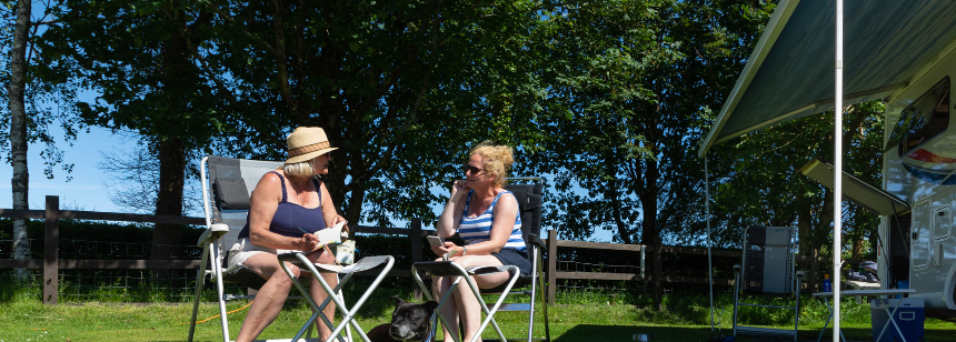 Grass and Hard Standing Pitches at the in the Tranquil Surrounds Tavistock Camp Site, Devon