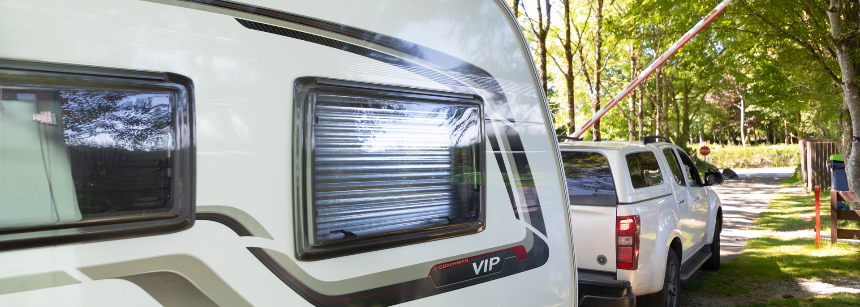 Aerial view of Tavistock campsite, Devon