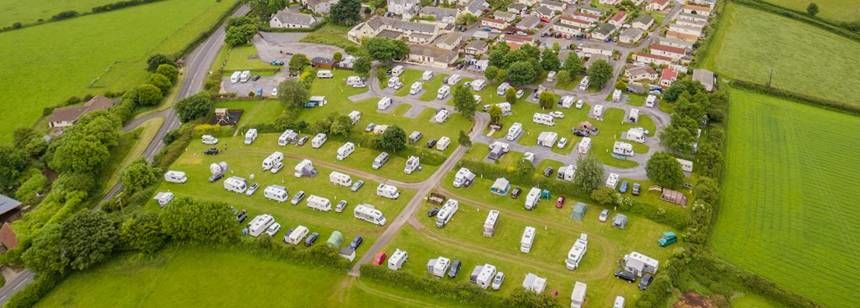 Aerial shot of Dartmouth Campsite