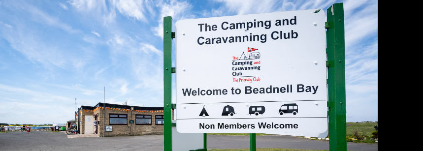 Scenic Views of the Beadnell Bay Camp Site, Northumberland