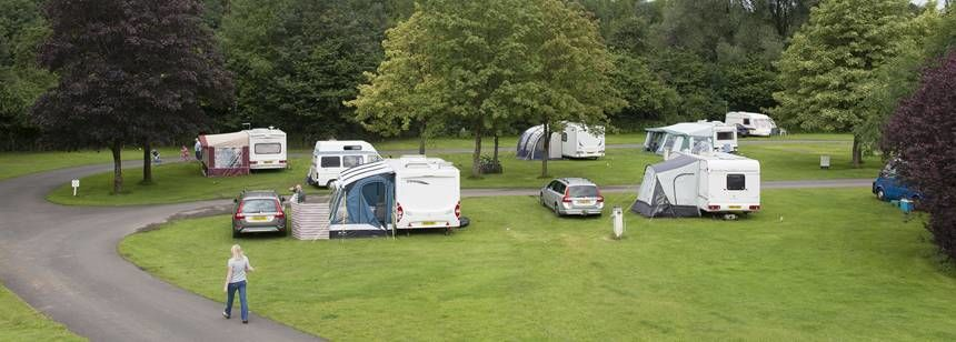 Spending Time With Friendly Neighbours at Clitheroe Camp Site, Lancashire
