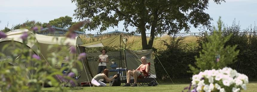 Families Relaxing and Enjoying Their Time at Crowborough Camp Site, East Sussex