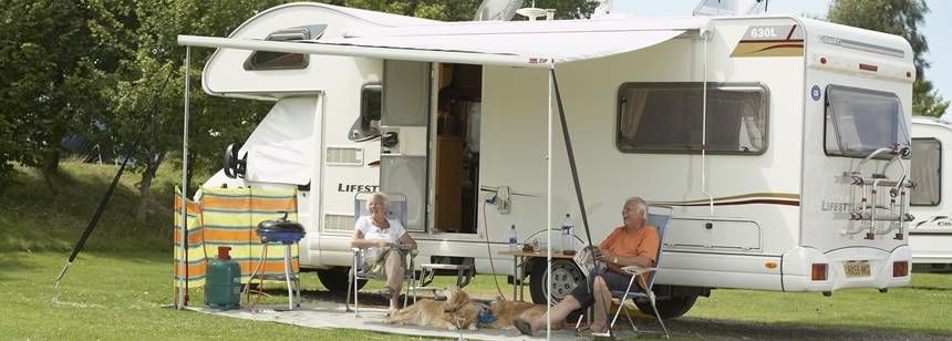 Couples Relaxing and Enjoying Their Time at Crowborough Camp Site, East Sussex