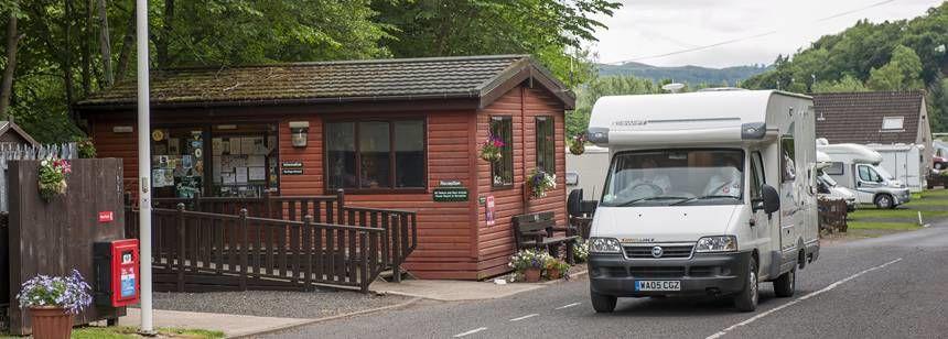 Jedburgh campsite entrance
