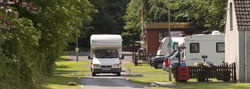 View of Jedburgh campsite entrance