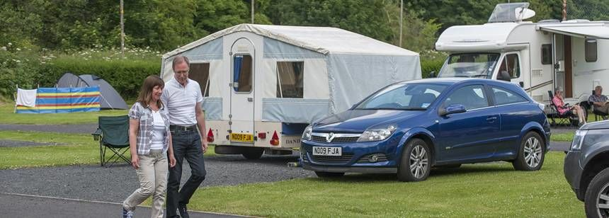 Hardstanding pitches at Jedburgh campsite
