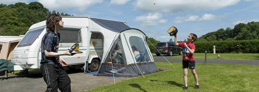 Children playing at Jedburgh campsite