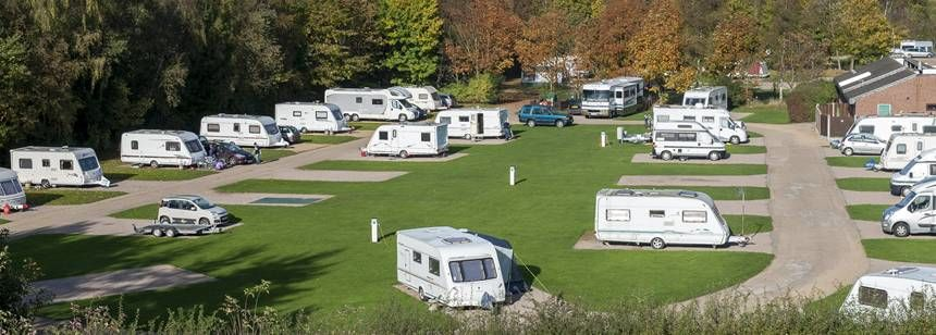 Hardstanding pitches at Kingsbury campsite