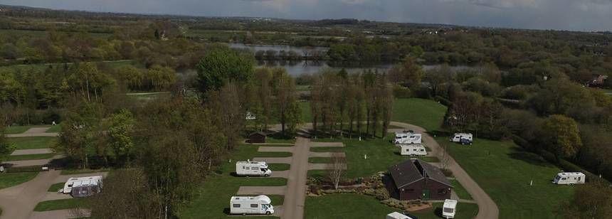 Kingsbury campsite aerial shot
