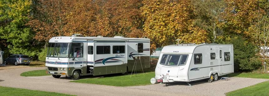 Plenty of space for large RVs at Kingsbury campsite