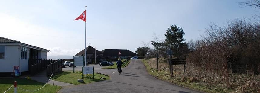 Entrance and facilities Overlooking the Moray Firth at the Rosemarkie Camp Site, the Highlands