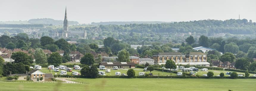 Aerial view of Salisbury campsite