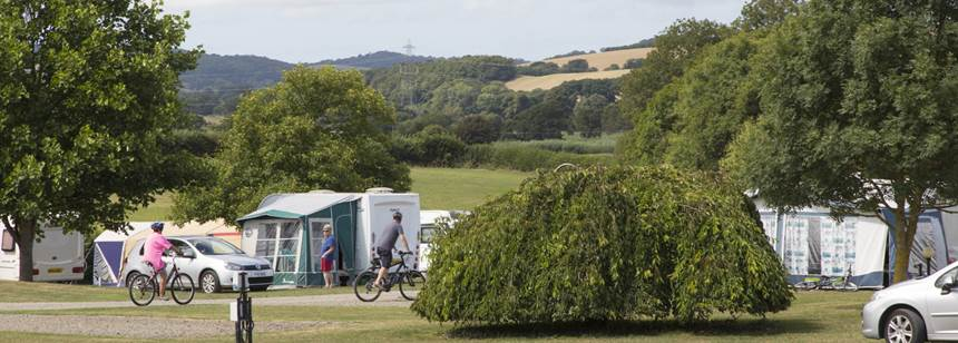 Cyclists on Umberleigh Campsite