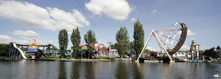 The Fun Park at Drayton Manor Camp Site, Staffordshire