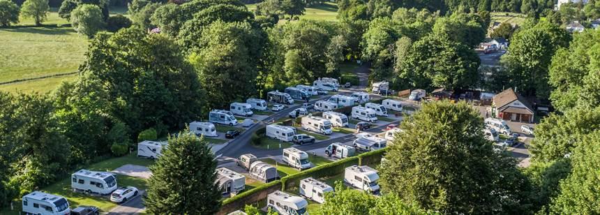 Aerial photograph of Braithwaite Fold campsite