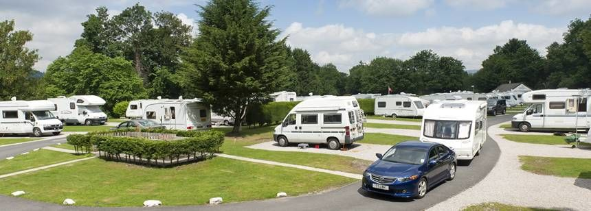 Hard Standing Pitches For Motorhomes and Caravans at Boroughbridge Camp Site