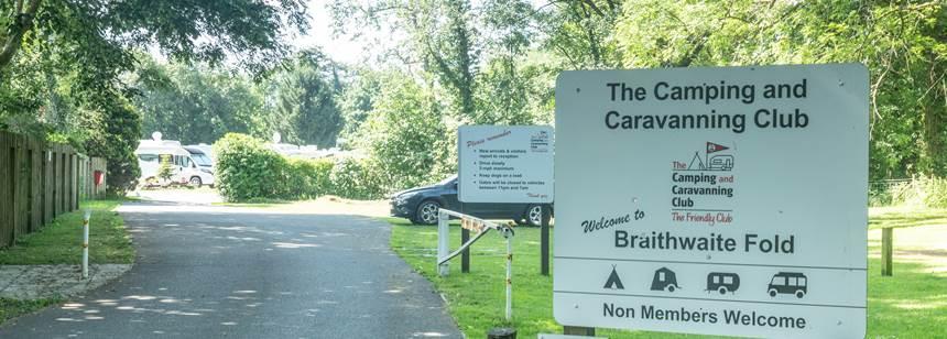 Braithwaite Fold campsite sign