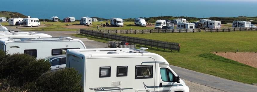 Hard Standing Pitches Overlooking Ocean Views of the North Devon Coast Line