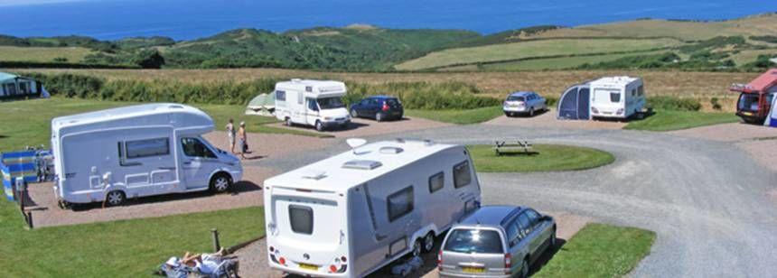 Hard Standing Pitches Overlooking the Stunning North Devon Countryside Damage Barton Camp Site