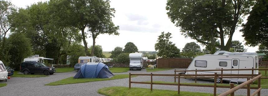 Hard Standing Pitches For Motorhomes and Caravans at Cheddar, Mendip Heights Camp Site, Somerset