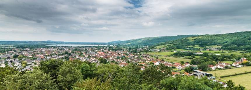 Views over Cheddar town
