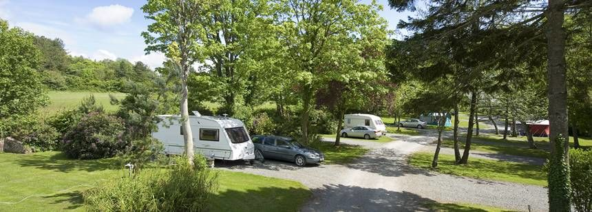 Secluded Pitches at the Ravenglass Camp Site, Lake District.